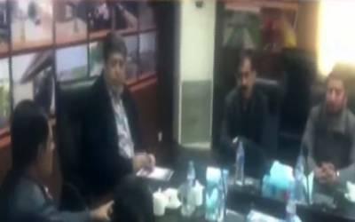 ملک طارق محمود کی زیر صدارت اورنج ٹرین منصوبے کے حوالے سے اجلاس