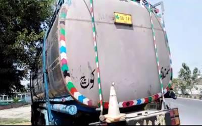 شاہدرہ پولیس نے شراب سے بھرا کنٹینر پکڑ لیا