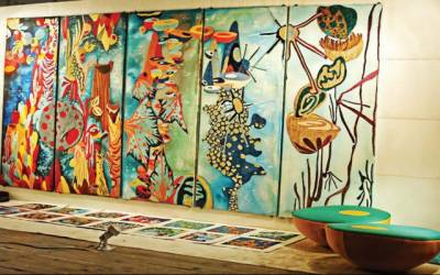پنجاب یونیورسٹی: بیچلرز آف فائن آرٹ فائنل تھیسیسز کی نمائش