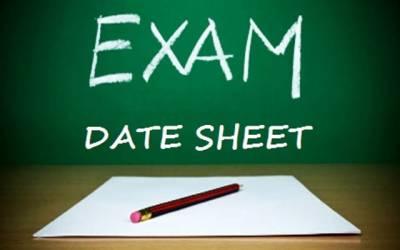 پانچویں اور آٹھویں جماعت کے امتحانات کیلئے ڈیٹ شیٹ جاری