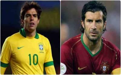 عالمی شہرت یافتہ فٹبالر کاکا اور لوئیس فیگو کا پاکستان آنے کا اعلان