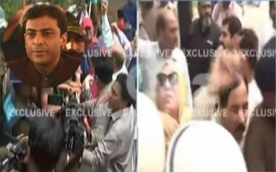 حمزہ شہباز کی گرفتاری کا معاملہ، پولیس اور لیگی کارکنوں میں جھڑپ