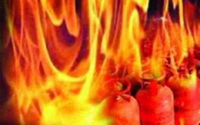 موتی بازار میں سلنڈر دھماکہ، 2 افراد زخمی
