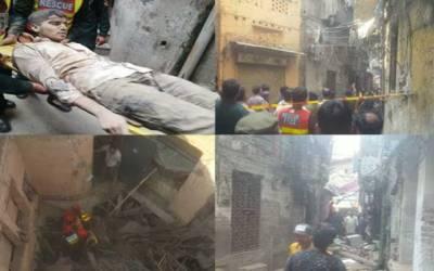 بھاٹی گیٹ، 3 منزلہ عمارت گرنے سے 6 افراد جاں بحق