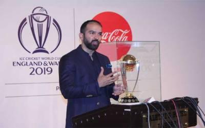 آئی سی سی ورلڈ کپ 2019 کی ٹرافی لاہور پہنچ گئی