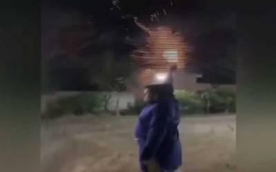 ہربنس پورہ میں نوجوان کی سرعام ہوائی فائرنگ،ویڈیو وائرل