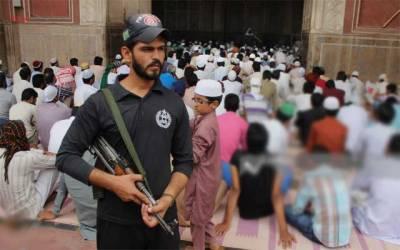 رمضان المبار ک کے تیسرے جمعہ پر سکیورٹی کے سخت انتظامات