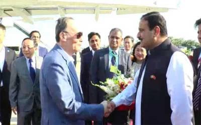چینی نائب صدر وانگ کیشان دو روزہ دورے پر لاہور پہنچ گئے