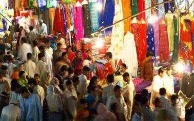 عید الفطر قریب آتے ہی بازاروں میں رش بڑھ گیا