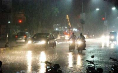 شہر کے بیشتر علاقوں میں تیز بارش، موسم خوشگوار