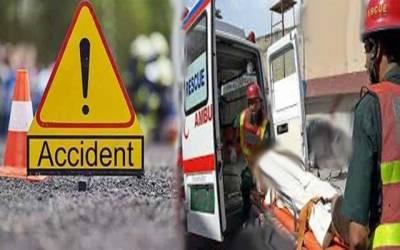 شاہدرہ کے قریب افسوسناک ٹریفک حادثہ
