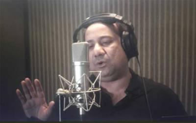 گلوکار راحت فتح علی خان نے پولیس اور شہداء کیلئے گانا ریکارڈ کرا دیا