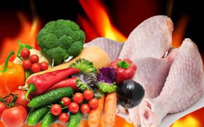 سبزیوں اور مرغی کی قیمتوں کو آگ لگ گئی