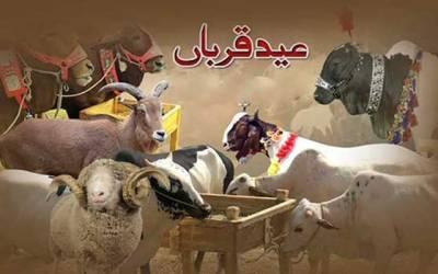 لاہور سمیت ملک بھر میں آج عیدالاضحیٰ منائی جارہی ہے