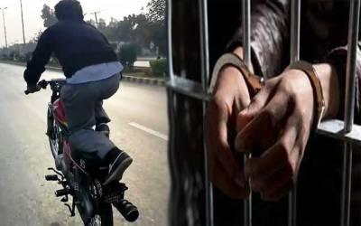 ون ویلنگ کرنے پر 485 منچلے گرفتار، موٹرسائیکلیں ضبط