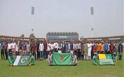 کشمیری عوام سے یکجہتی کیلئے کھلاڑی بھی میدان میں آگئے