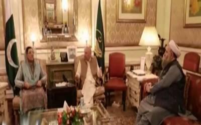 گورنر چودھری محمد سرور سے فردوس عاشق اعوان کی ملاقات