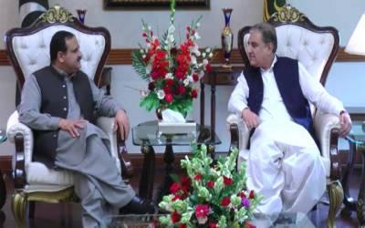وزیراعلیٰ پنجاب سے وزیر خارجہ شاہ محمود قریشی کی ملاقات