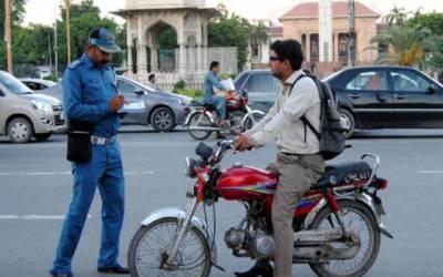شہریوں کی شکایت پرٹریفک پولیس کا ایکشن