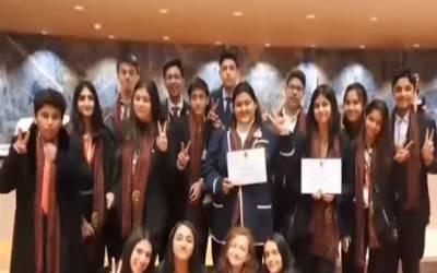ماڈل یونائیٹڈ نیشن تقریری مقابلوں میں پاکستانی طلبا کا بڑا اعزاز