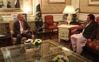 صدر پاکستان ڈاکٹرعارف علوی کی چودھری پرویزالٰہی سے ملاقات