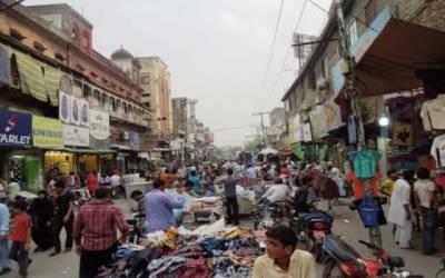 انار کلی بازار ایک بار پھر تجاوزات مافیا کی زد میں آگیا