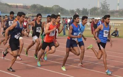 یونیورسٹی سپورٹس لیگ میں تین روزہ اتھلیٹکس مقابلوں کا آغاز