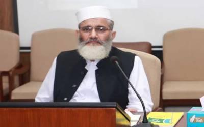 پاکستانی ٹیکس مندر کی تعمیر پر استعمال نہیں ہونا چاہئے، سراج الحق