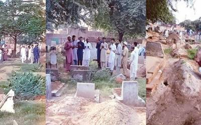 نماز عید کے بعد شہریوں نے قبرستانوں کا رُخ کرلیا