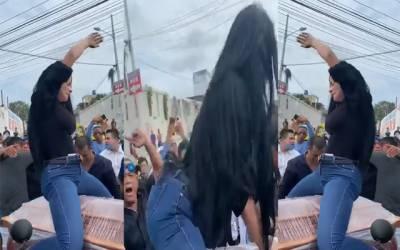 امریکی خاتون کا جنازے میں شرمناک رقص