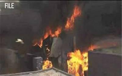 حفیظ سنٹر کے بعد ایک اور مارکیٹ میں اچانک آگ بھڑک اٹھی
