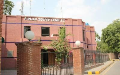 پنجاب اسکواش کمپلیکس کورونا وائرس کے باعث بند کر دیا گیا