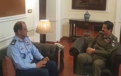 آئی جی پنجاب اور ائیر وائس مارشل ظفر اسلم کی ملاقات، مختلف امور پر تبادلہ خیال