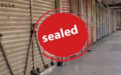 کورونا ایس او پیز پر عملدرآمد نہ کرنے والی 11 دکانیں سیل