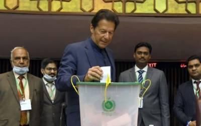 سینیٹ انتخابات، وزیر اعظم نے ووٹ کاسٹ کر دیا
