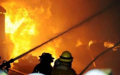 مانگا منڈی؛ ٹیکسٹائل فیکٹری میں آگ بھڑک اٹھی