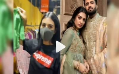 خوبرو اداکارہ سارہ خان کی ''ننھے مہمان'' کیلئے شاپنگ کی ویڈیو سامنے آگئی