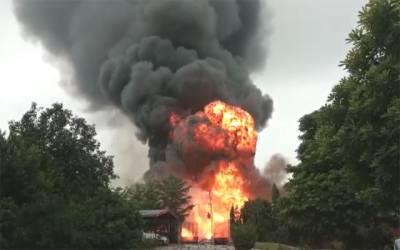 کسٹمز کی ضبط شدہ سامان کو نذر آتش کرنے کی تقریب میں افسوسناک حادثہ
