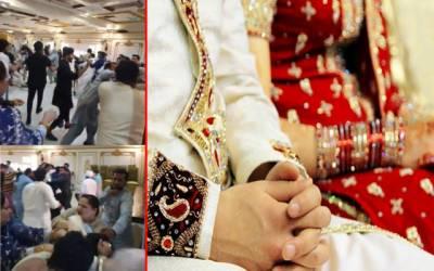شوہر کی تیسری شادی پرمیرج ہال میدان جنگ بن گیا؛ فوٹیج سامنے آ گئی