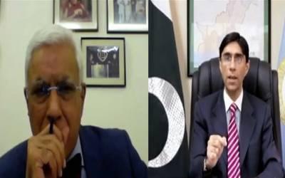 مشیر برائے قومی سلامتی ڈاکٹر معید یوسف نے بھارتی صحافی کو کھری کھری سنا دی