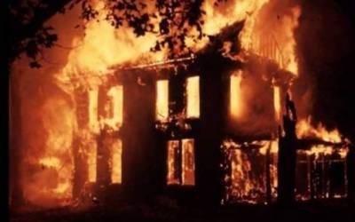 house on fire file photo