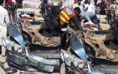 کار ٹرالے میں خوفناک تصادم، خواتین سمیت 3 افراد جاں بحق