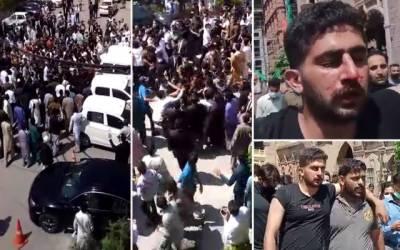 عدالت یا میدان جنگ:وکلا، پولیس میں لڑائی ، مکے،گھونسوں کا آزادانہ استعمال