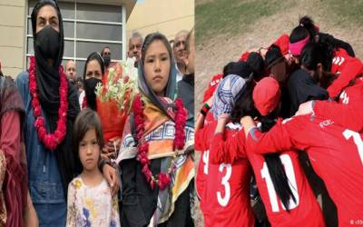 Afghan women football team reach Lahore
