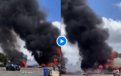 Airplane crash in California