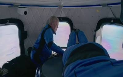 William Shatner goes to space on Blue Origin mission